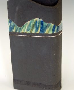 Abstract Landscape Vessel in Black