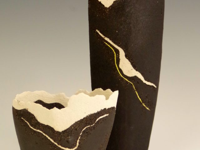 Abstract Landscape Vessels In Black